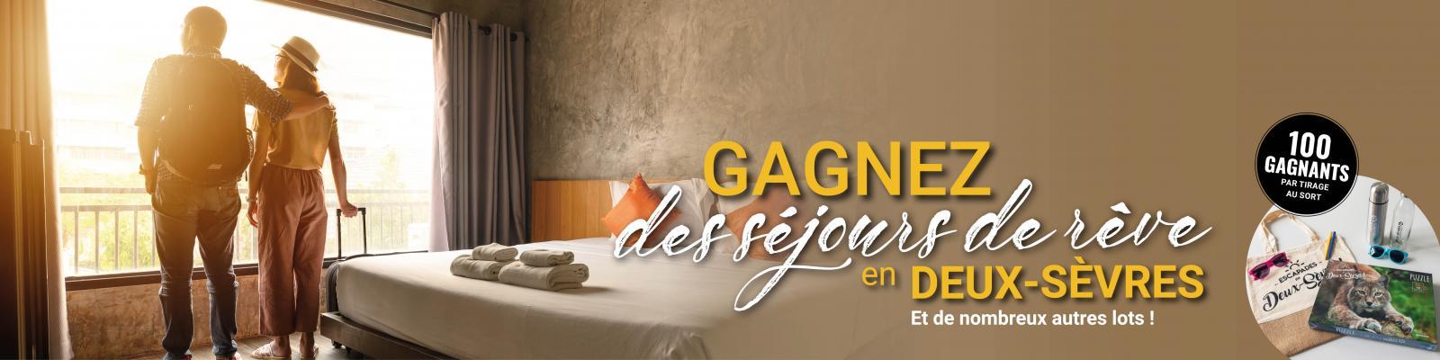 Jeu concours 2021 : Gagnez un séjour en Deux-Sèvres !