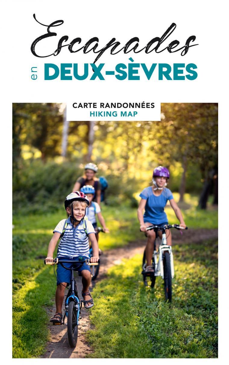 Carte de randonnée touristique en Deux-Sèvres