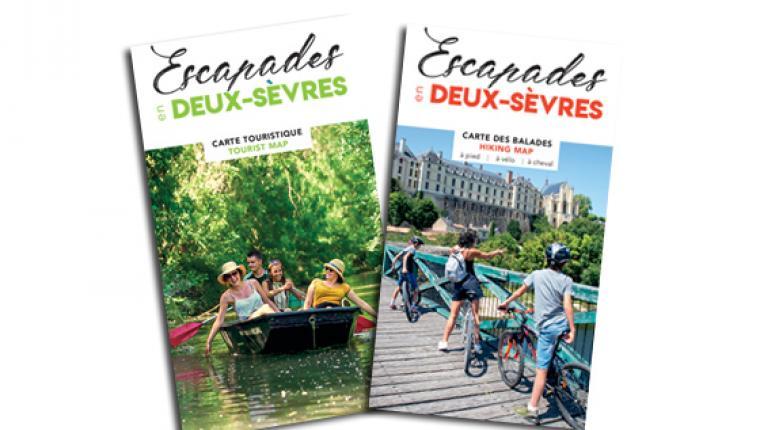 Carte touristique et carte de randonnées en Deux-Sèvres