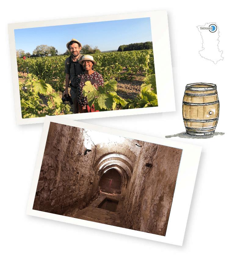 Clo et Clem dans les vignobles et au coeur de villages de caractère à la découverte de la rivière souterraine