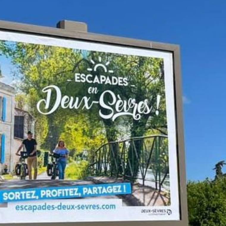 campagne affichage Escapades en Deux-Sèvres